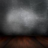 interior del grunge 3D con el piso de madera Fotografía de archivo libre de regalías