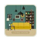 Interior del grunge de la sala de estar Imagen de archivo