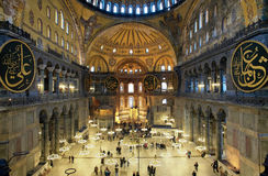 Interior del Hagia Sophia en Estambul foto de archivo