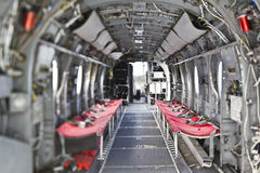 Interior del helicóptero del caballero del mar H-46 imagenes de archivo