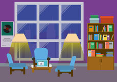 Interior del hogar con la ventana grande Imagen de archivo