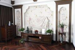 Interior del hogar del estilo chino Imagen de archivo