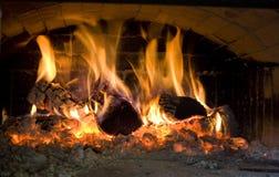 Interior del horno de la pizza
