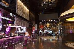 Interior del hotel de la aria, en Las Vegas, nanovoltio el 27 de abril de 2013 Foto de archivo libre de regalías