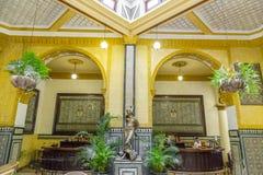 Interior del hotel Inglaterra, La Habana, Cuba Imagenes de archivo