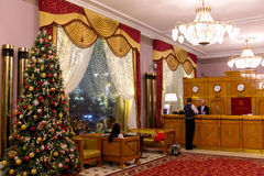 Interior del hotel nacional en Moscú Imagen de archivo libre de regalías