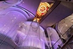 Interior del hotel y del casino cosmopolitas, Las Vegas Fotos de archivo libres de regalías