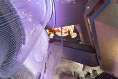 Interior del hotel y del casino cosmopolitas, Las Vegas Foto de archivo libre de regalías