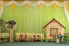 Interior del jardín de la infancia Fotos de archivo libres de regalías