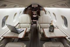 Interior del jet del asunto Foto de archivo