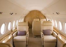 Interior del jet del asunto Imagen de archivo libre de regalías