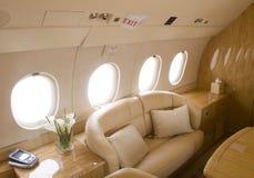 Interior del jet del asunto Fotografía de archivo libre de regalías