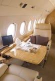 Interior del jet del asunto Foto de archivo libre de regalías