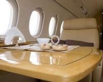 Interior del jet del asunto Imagen de archivo