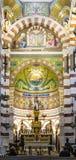 Interior del la Garde de Notre-Dame de en Marsella Fotografía de archivo
