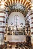 Interior del la Garde de Notre-Dame de en Marsella Fotos de archivo