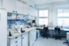 Interior del laboratorio desenfocado Foto de archivo libre de regalías