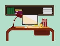 Interior del lugar de trabajo Fotografía de archivo libre de regalías