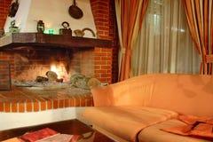Interior del lugar del fuego Foto de archivo