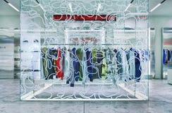 Interior del mercado de la moda de Bape, Pekín, China imagenes de archivo