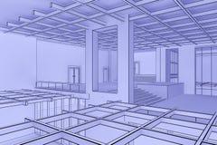 Interior del modelo Imagen de archivo libre de regalías