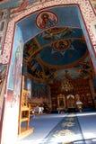 Interior del monasterio Foto de archivo libre de regalías