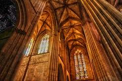 Interior del monasterio de Batalha en Portugal Fotografía de archivo libre de regalías