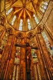 Interior del monasterio de Batalha en Portugal Imágenes de archivo libres de regalías
