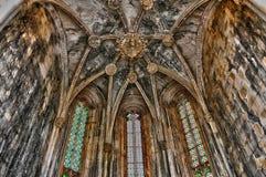 Interior del monasterio de Batalha en Portugal Fotografía de archivo