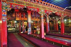Interior del monasterio de Drepung Foto de archivo libre de regalías