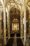Interior del monasterio de Hieronymites, Lisboa (Portugal) Foto de archivo