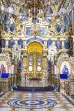 Interior del monasterio de Pochaiv - Ucrania Foto de archivo