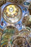 Interior del monasterio de Pochaiv - Ucrania Imagen de archivo