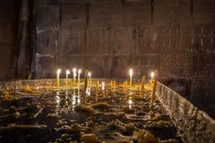 Interior del monasterio famoso Noravank, Armenia del lugar imagen de archivo libre de regalías