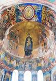 Interior del monasterio ortodoxo Fotografía de archivo libre de regalías