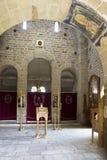 Interior del monasterio ortodoxo Djurdjevi Stupovi en Serbia Imagen de archivo