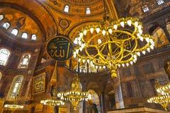 Interior del mosaico en Hagia Sophia en Estambul Turquía Imagen de archivo
