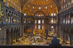 Interior del mosaico en Hagia Sophia en Estambul Turquía Fotografía de archivo libre de regalías