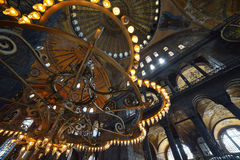 Interior del museo de Hagia Sophia en Estambul Fotografía de archivo
