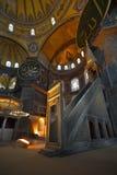Interior del museo de Hagia Sophia en Estambul Fotos de archivo
