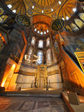 Interior del museo de Hagia Sophia en Estambul Fotografía de archivo libre de regalías