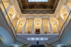 Interior del museo ruso en St Petersburg imagen de archivo