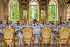 Interior del pabellón de la ermita en Catherine Park de Tsarskoy Fotos de archivo