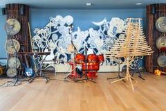 Interior del pabellón vietnamita en la expo 2015, Milán Fotografía de archivo libre de regalías