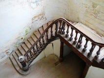 Interior del palacio abandonado en Bielorrusia Fotos de archivo libres de regalías