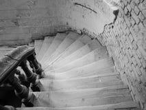 Interior del palacio abandonado en Bielorrusia Foto de archivo libre de regalías