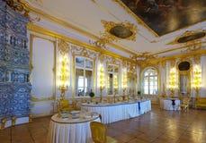 Interior del palacio de Catherine Foto de archivo