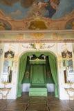 Interior del palacio de Rundale El dormitorio de Duke's Imagen de archivo