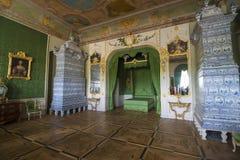 Interior del palacio de Rundale El dormitorio de Duke's Fotos de archivo