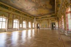 Interior del palacio de Rundale El oro Pasillo Foto de archivo